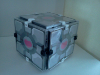 Companion Cube with Case-ons clip